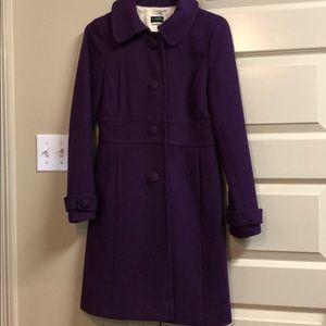J Crew pea coat in purple